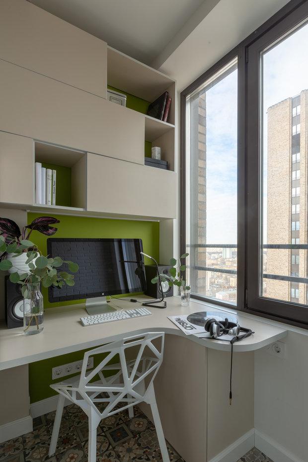 Фотография: Балкон в стиле Современный, Квартира, Проект недели, Москва, 1 комната, до 40 метров, 40-60 метров, Анастасия Бондарева – фото на INMYROOM