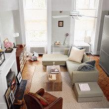 Фото из портфолио Крошечная квартира в Нью-Йорке с ноткой гламура – фотографии дизайна интерьеров на InMyRoom.ru