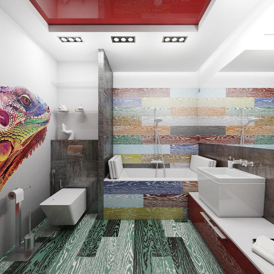 Фотография: Ванная в стиле Хай-тек, Интерьер комнат, Проект недели – фото на InMyRoom.ru