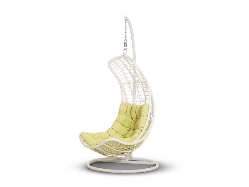 Подвесное кресло белое