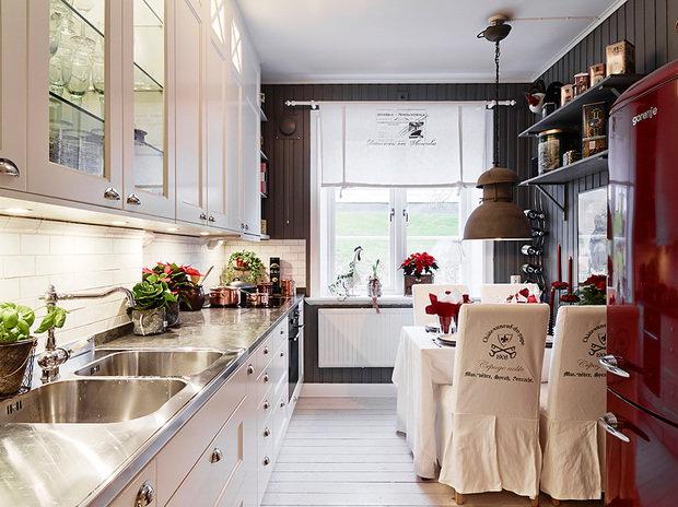 Фотография: Кухня и столовая в стиле Скандинавский, Малогабаритная квартира, Квартира, Цвет в интерьере, Дома и квартиры, Белый, Гетеборг, 2 комнаты, 40-60 метров – фото на InMyRoom.ru