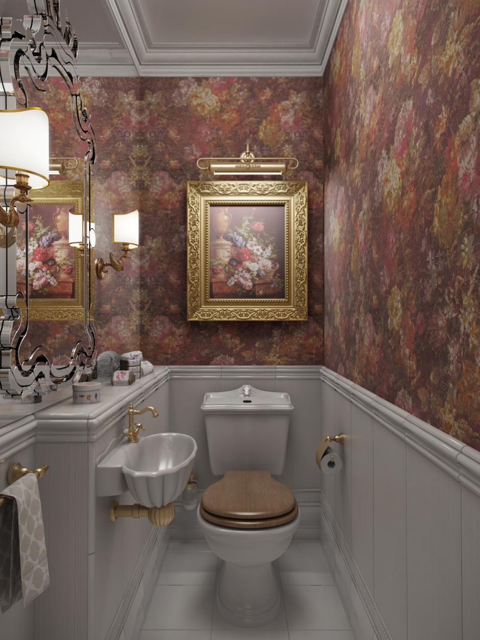 Фотография: Ванная в стиле Классический, Квартира, Проект недели, Московская область, новостройка, Александра Никулина, Монолитный дом, 3 комнаты, 60-90 метров – фото на InMyRoom.ru