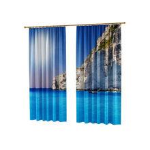 Фотошторы для спальни: Голубое море