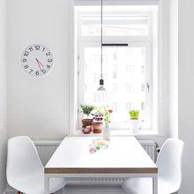 Фотография: Кухня и столовая в стиле Скандинавский, Декор интерьера, Квартира, Цвет в интерьере, Дома и квартиры, Стены, Пол – фото на InMyRoom.ru
