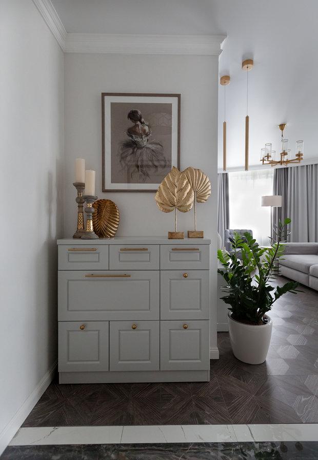 Фото из портфолио Однокомнатная квартира студия  для молодой девушки. – фотографии дизайна интерьеров на INMYROOM