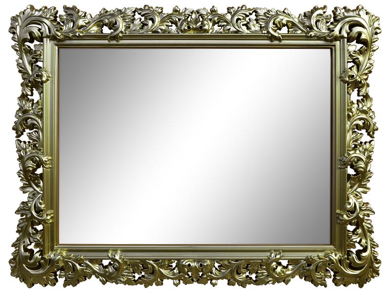 Настенное зеркало алиана в раме бронзового цвета
