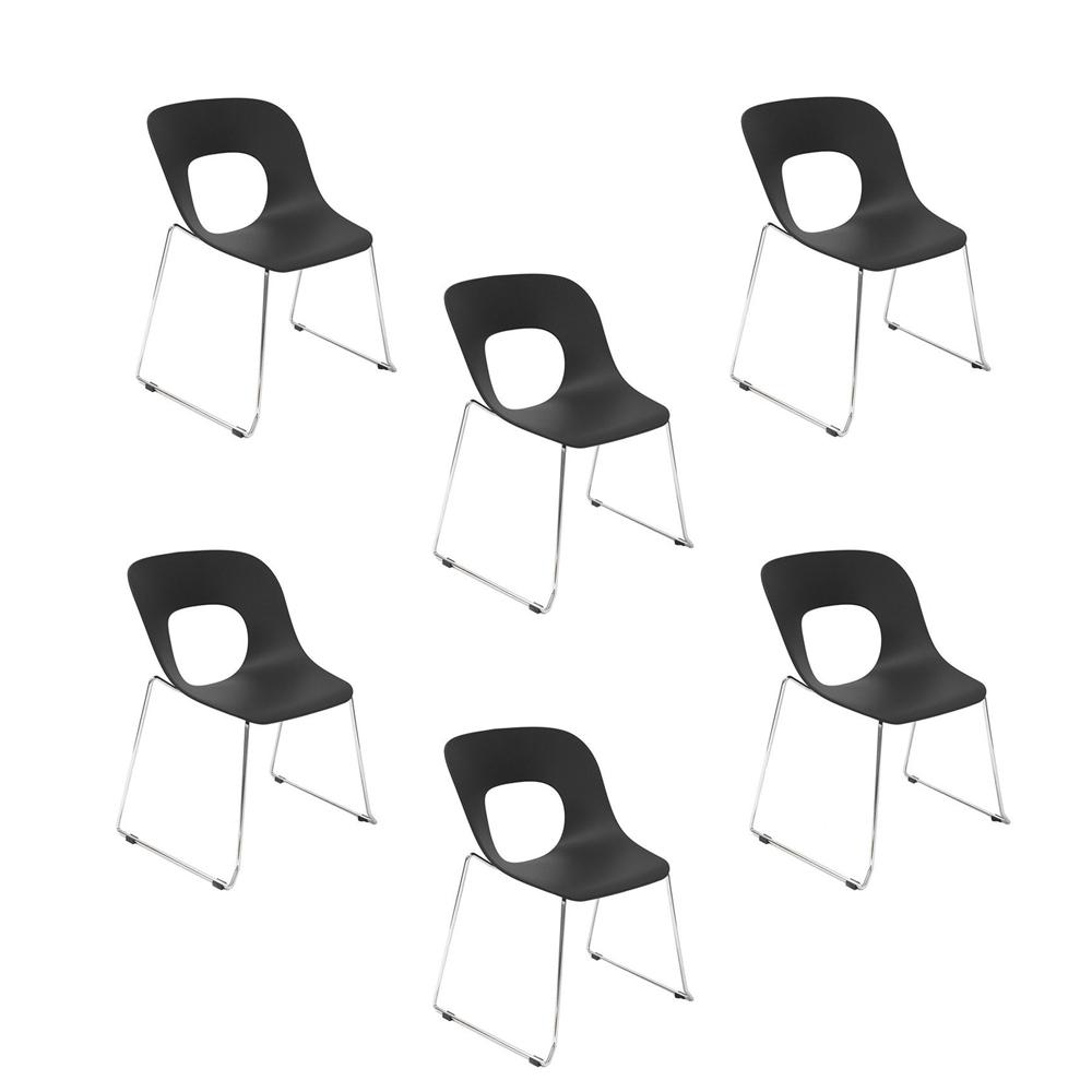 Купить Набор из 6-ти стульев на металлических ножках черный, inmyroom, Китай