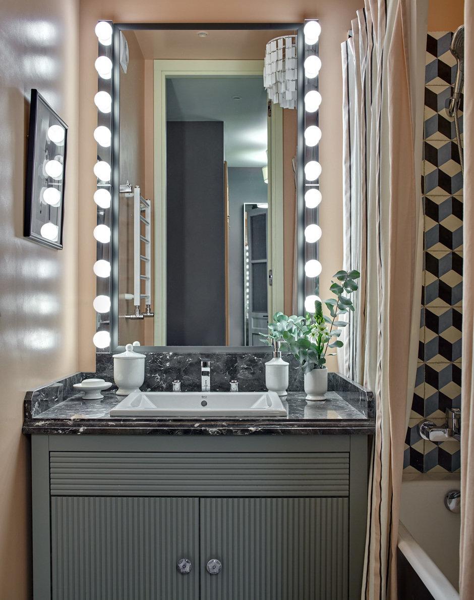 Фотография: Ванная в стиле Современный, Квартира, Проект недели, Монолитный дом, 2 комнаты, 40-60 метров, Наталья Митракова, ЖК «Маршал» – фото на InMyRoom.ru