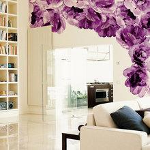 Фотография: Гостиная в стиле Современный, Декор интерьера, Декор дома, Обои, Стены – фото на InMyRoom.ru
