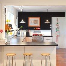 Фотография: Кухня и столовая в стиле Лофт, Современный, Мебель и свет, Советы, Ремонт на практике – фото на InMyRoom.ru