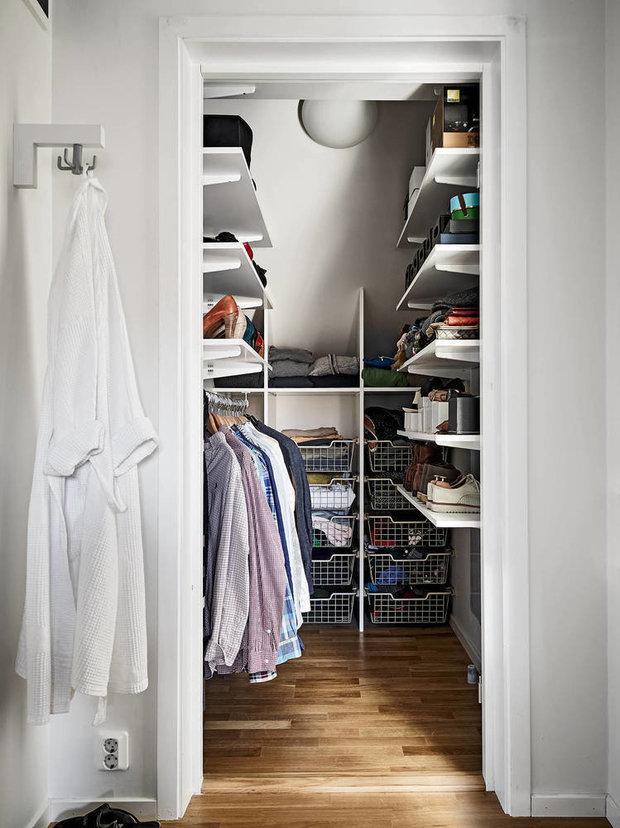 Фотография: Гардеробная в стиле Скандинавский, Советы, хранение вещей – фото на InMyRoom.ru
