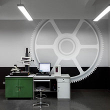 Фотография: Офис в стиле Лофт, Офисное пространство, Цвет в интерьере, Дома и квартиры – фото на InMyRoom.ru