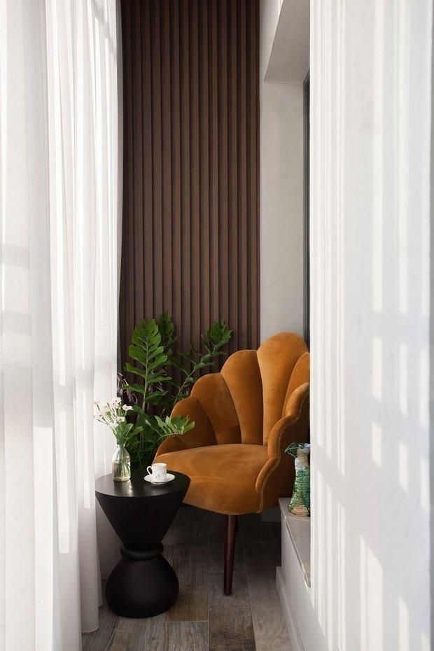 Фотография: Балкон в стиле Современный, Квартира, Проект недели, Санкт-Петербург, 1 комната, 40-60 метров, Екатерина Совастеева – фото на INMYROOM