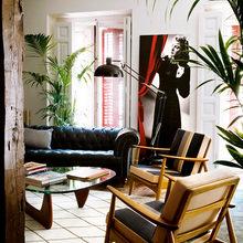 Фотография: Гостиная в стиле Лофт, Декор интерьера, Интерьер комнат, Проект недели, Стена, Мадрид – фото на InMyRoom.ru