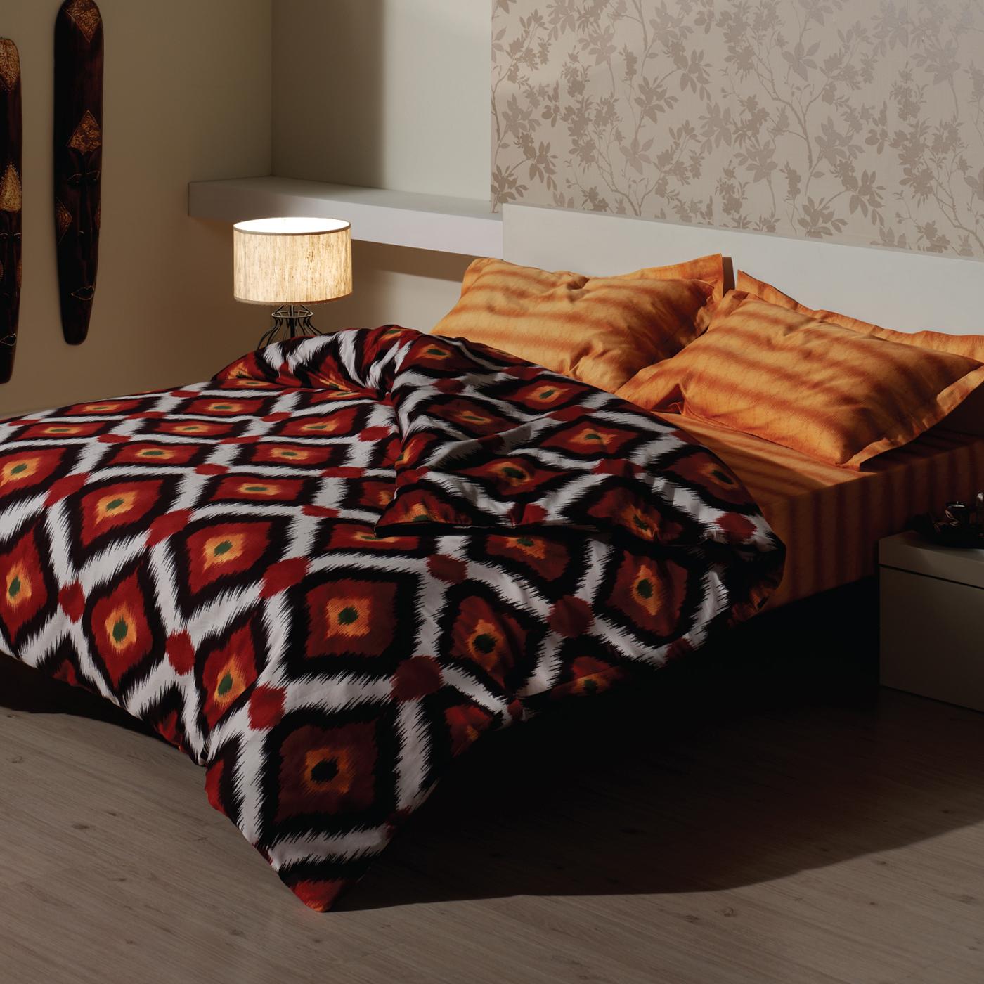 Купить Комплект постельного белья Ikat Orange Euro, inmyroom, Турция