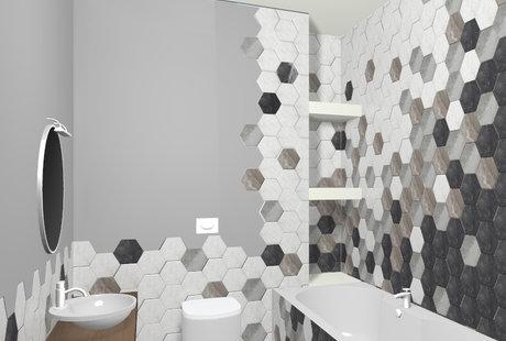 Дайте, пожалуйста, обратную связь на дизайн ванной комнаты