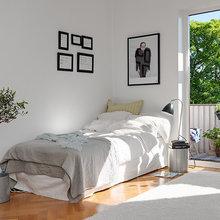 Фотография: Спальня в стиле Скандинавский, Современный, Малогабаритная квартира, Квартира, Швеция, Мебель и свет, Дома и квартиры – фото на InMyRoom.ru