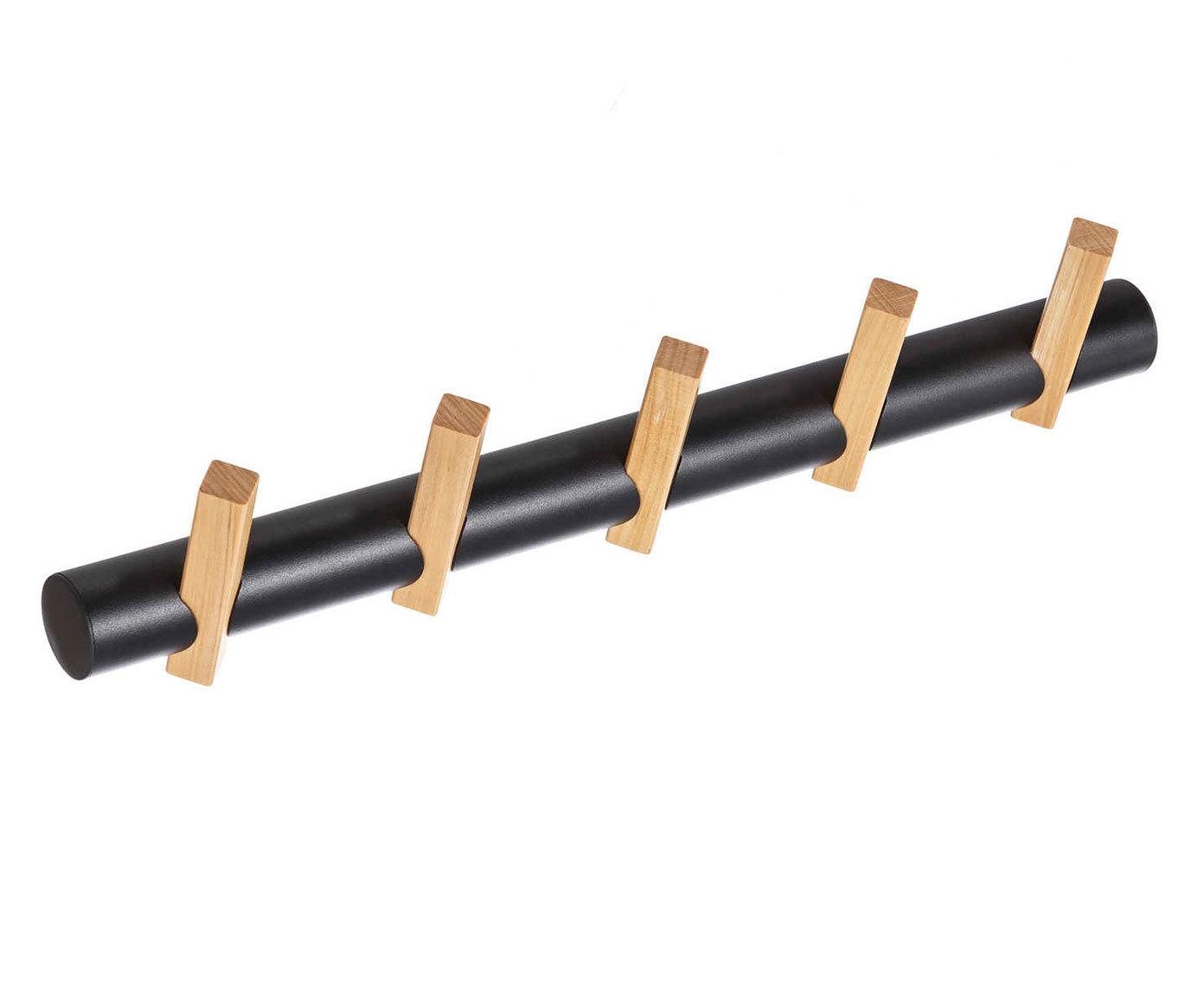 Вешалка настенная с деревянными крючками