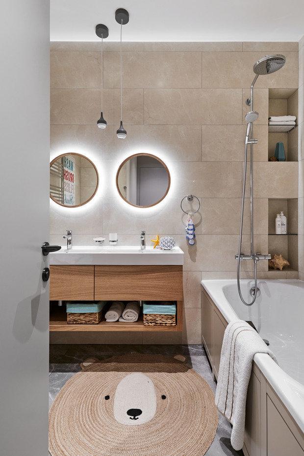 Фотография: Ванная в стиле Современный, Квартира, Проект недели, Москва, 4 и больше, Более 90 метров, Ила Сорочкина – фото на INMYROOM