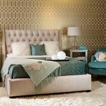 Фотография: Спальня в стиле Классический, Декор интерьера, DIY, Дом, Декор дома, Цвет в интерьере, Обои – фото на InMyRoom.ru