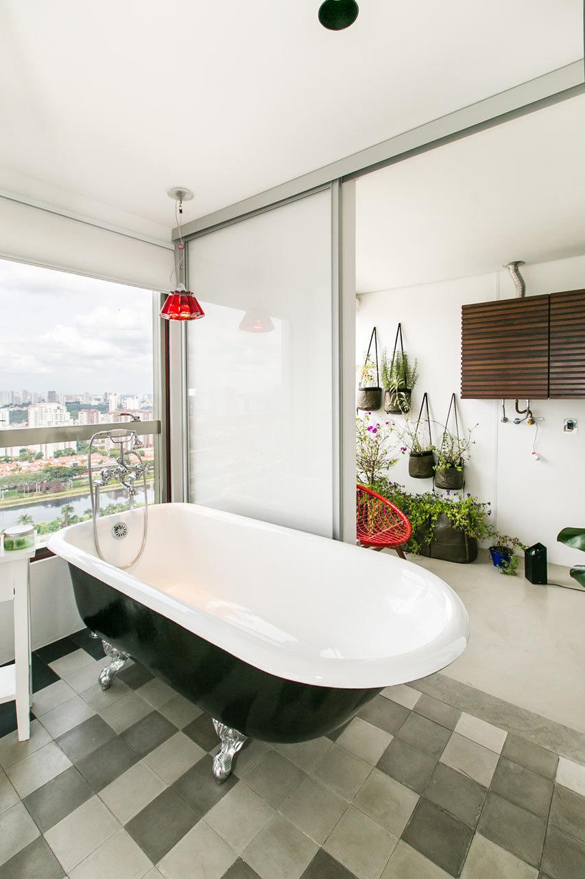 Фотография: Ванная в стиле Скандинавский, Декор интерьера, Малогабаритная квартира, Квартира, Дома и квартиры – фото на InMyRoom.ru
