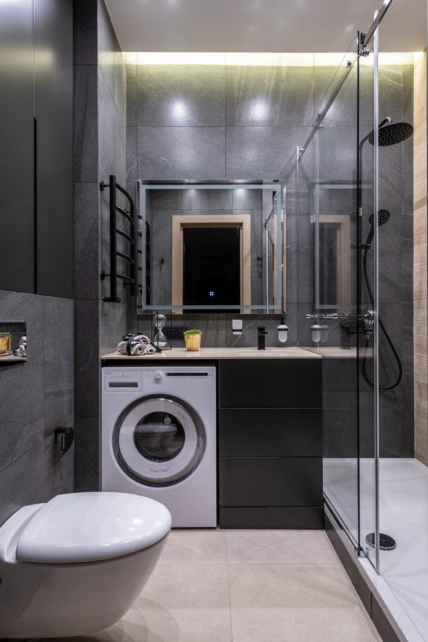 Фотография: Ванная в стиле Современный, Квартира, Проект недели, Москва, 3 комнаты, 60-90 метров, Карина Римик – фото на INMYROOM