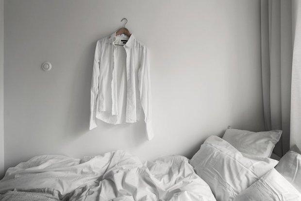 Фотография: Спальня в стиле Скандинавский, Современный, Малогабаритная квартира, Студия, Белый – фото на InMyRoom.ru
