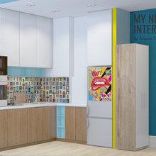 Фото из портфолио Дизайн однокомнатной квартиры 35 кв.м. в стиле поп-арт – фотографии дизайна интерьеров на INMYROOM