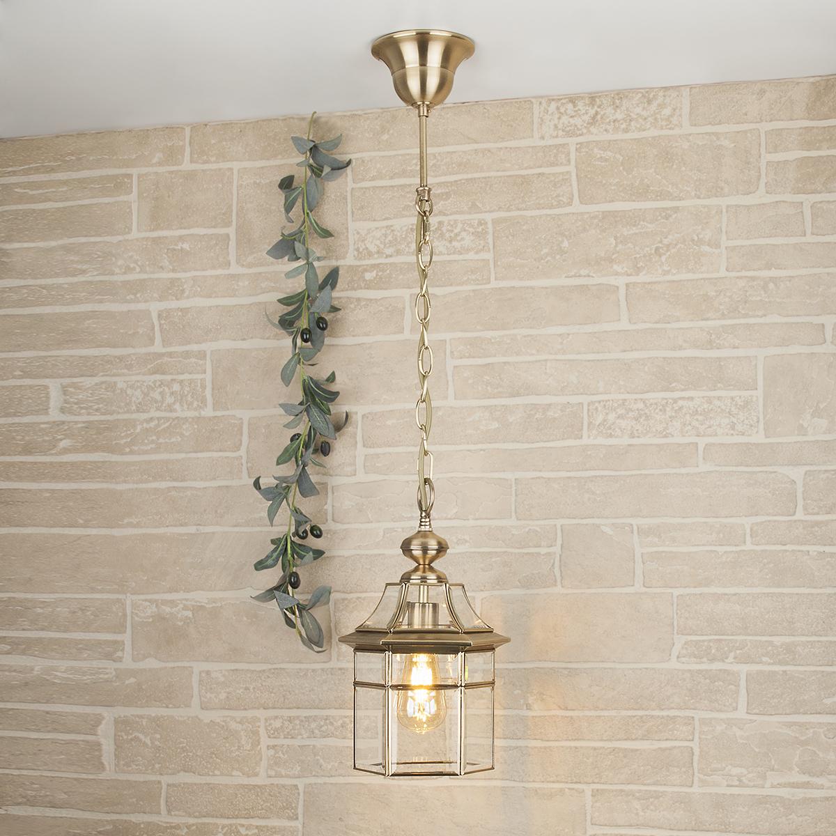 Уличный подвесной светильник Elektrostandard Savoie из металла и стекла