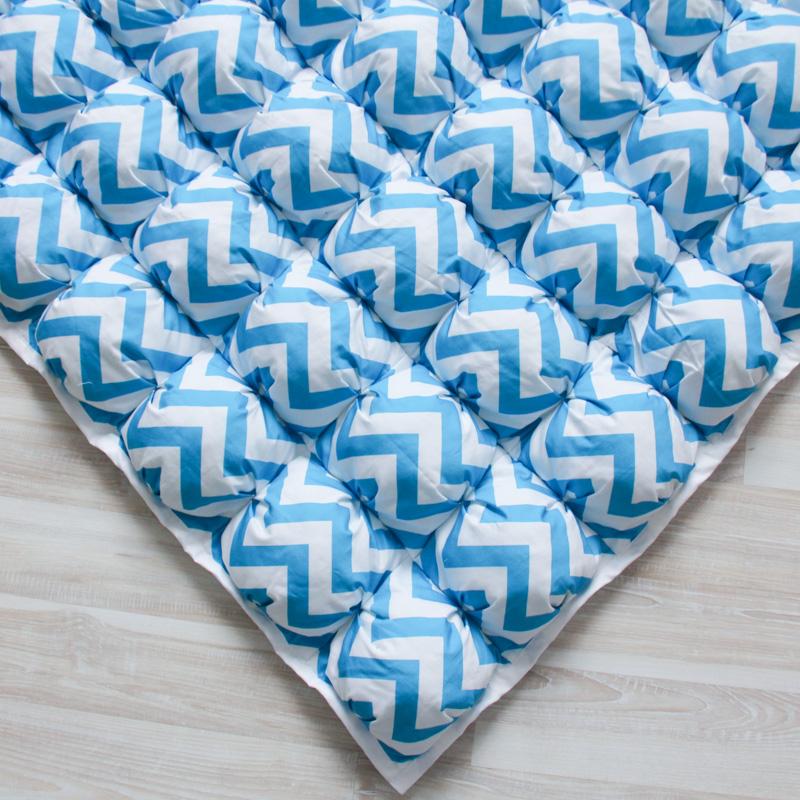 Игровой коврик бомбон Blue Zigzag 110х110 см