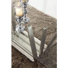 Обеденный прямоугольный стол на металлическом каркасе
