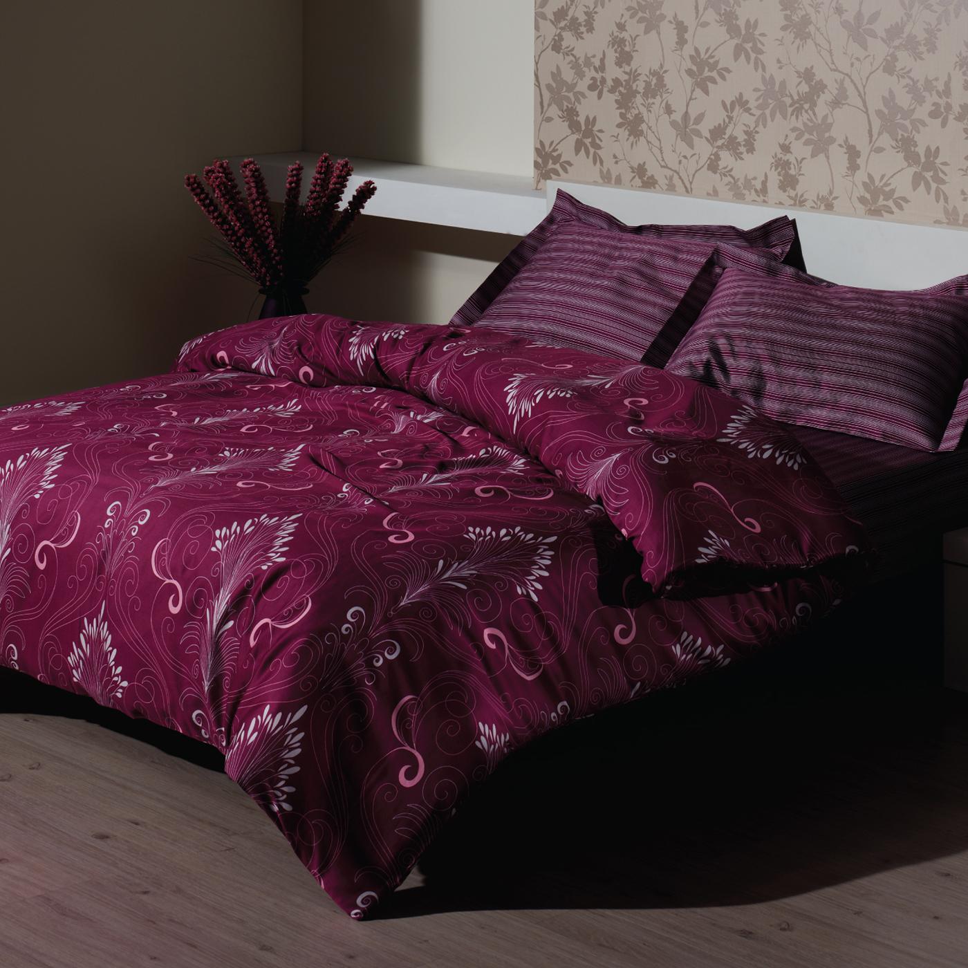 Купить Комплект постельного белья Damask Fuchsia Euro, inmyroom, Турция