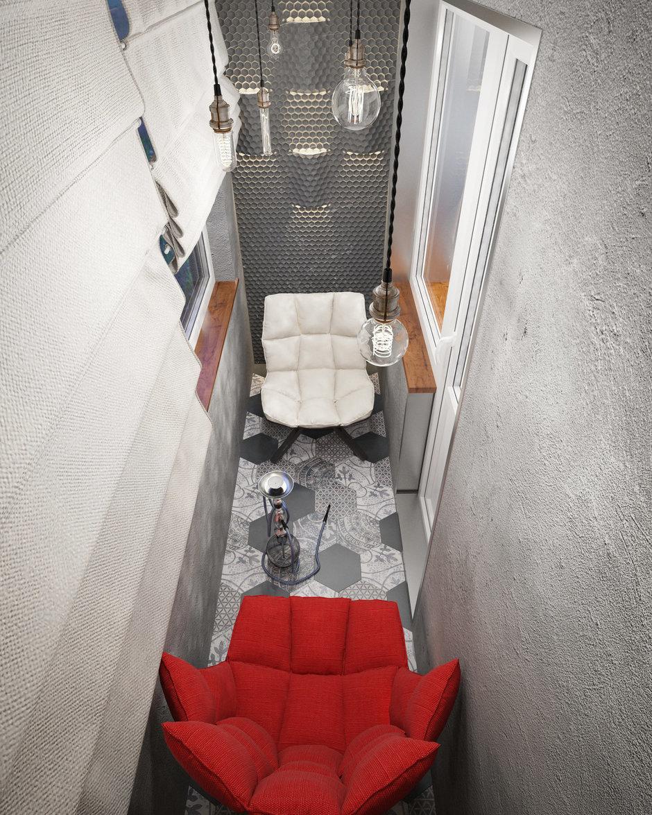 Фотография: Балкон в стиле Лофт, Проект недели, П-3М, GM-Interior – фото на InMyRoom.ru