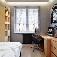 Фотография: Спальня в стиле Современный, Лофт, Квартира, Проект недели – фото на InMyRoom.ru