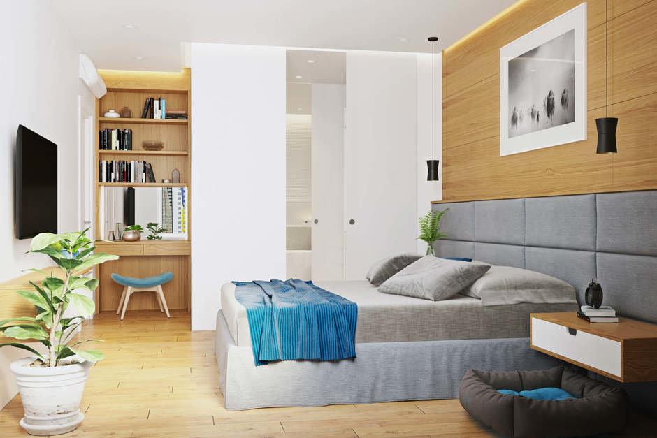 Фотография: Спальня в стиле Современный, Квартира, Проект недели, Geometrium, Монолитный дом, 3 комнаты, 60-90 метров, ЖК «Арт Casa Luna» – фото на InMyRoom.ru