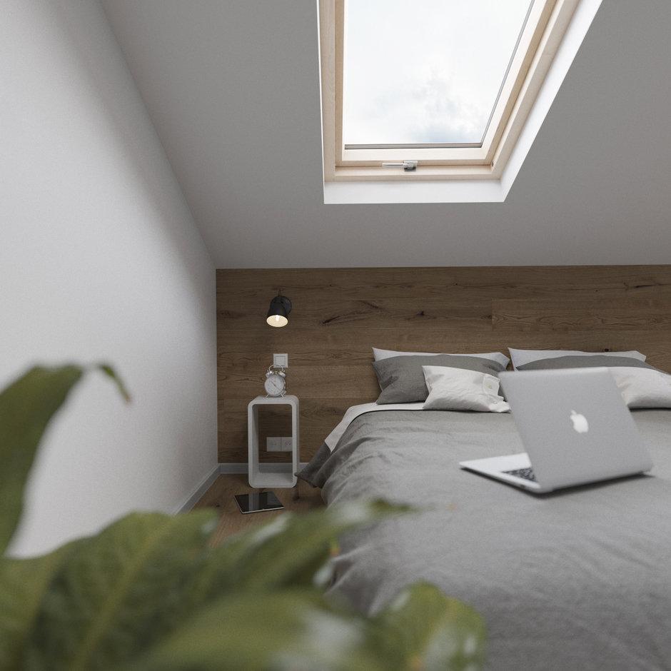 Фотография: Спальня в стиле Скандинавский, Квартира, Студия, Проект недели, Сочи, Монолитный дом, 2 комнаты, 40-60 метров, Антон Сухарев – фото на InMyRoom.ru