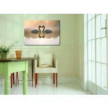 Декоративная картина на холсте: Лебединая верность
