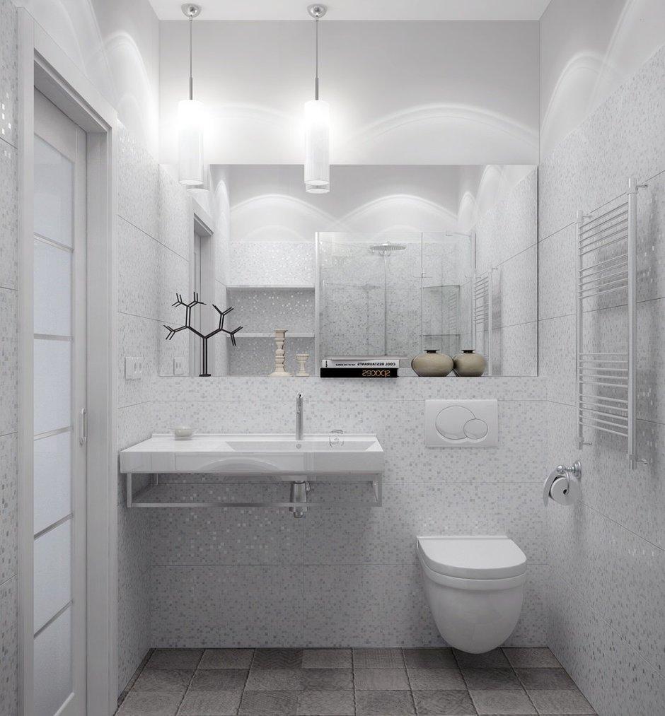 Фотография: Ванная в стиле Современный, Квартира, Цвет в интерьере, Дома и квартиры, Белый, Проект недели – фото на InMyRoom.ru