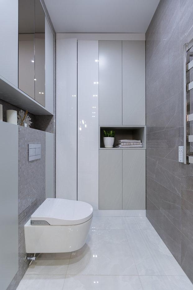 Фотография: Ванная в стиле Современный, Квартира, Проект недели, Москва, 3 комнаты, 60-90 метров, Анастасия Бондарева – фото на INMYROOM