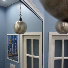 Фотография: Ванная в стиле Современный, Скандинавский, Эклектика, Квартира, Белый, Проект недели, Голубой, Интервью – фото на InMyRoom.ru