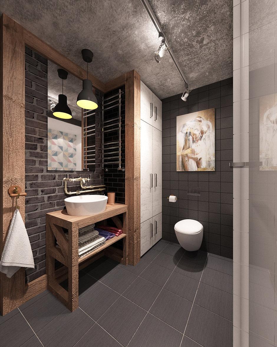Фотография: Ванная в стиле Лофт, Квартира, Дома и квартиры, IKEA, Проект недели, Cosmorelax – фото на InMyRoom.ru