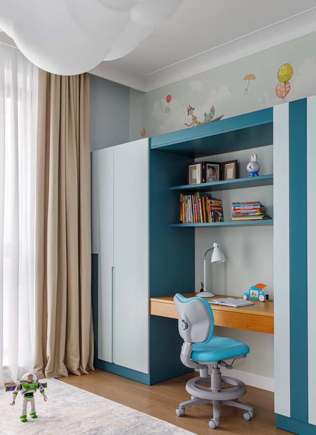 Фотография: Детская в стиле Современный, Квартира, Проект недели, Москва, 3 комнаты, Более 90 метров, Balcon – фото на INMYROOM