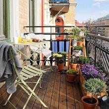 Фотография: Ванная в стиле Кантри, Балкон, Квартира, Декор, Советы, как обустроить маленький балкон, идеи для маленького балкона, декор балкона – фото на InMyRoom.ru