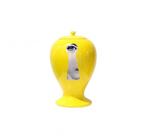 Купить со скидкой Декоративная ваза с крышкой Serratura Yellow ii