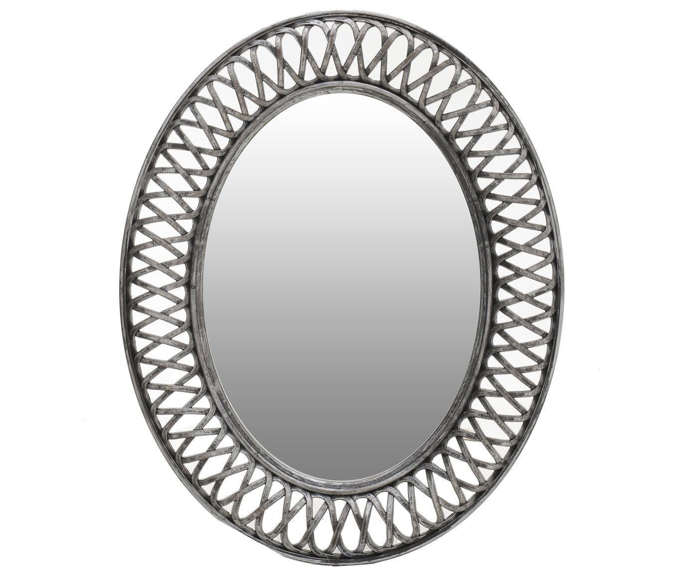 Настенное зеркало в раме из полистоуна
