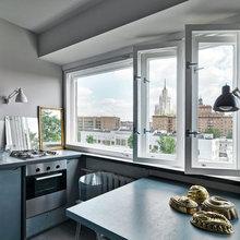 Фотография: Кухня и столовая в стиле Современный, Малогабаритная квартира, Квартира, Дома и квартиры, Москва – фото на InMyRoom.ru