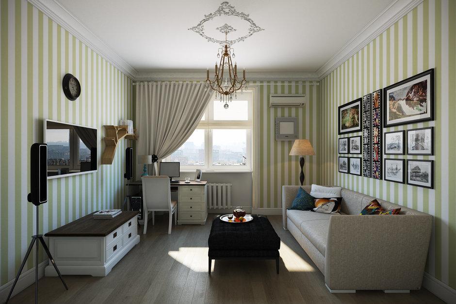 Фотография: Гостиная в стиле Прованс и Кантри, Квартира, Дома и квартиры, IKEA, Проект недели, Москва – фото на InMyRoom.ru