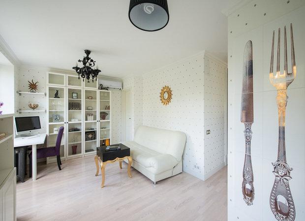Фотография: Гостиная, Прочее в стиле Классический, Современный, Эклектика, Малогабаритная квартира, Квартира, Декор, Дома и квартиры, IKEA, Проект недели – фото на INMYROOM