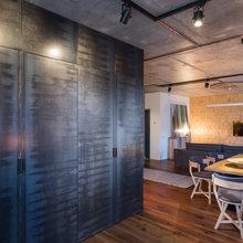 Фотография: Кухня и столовая в стиле Лофт, Квартира, Проект недели, Киев, гамак в квартире, новостройка – фото на InMyRoom.ru