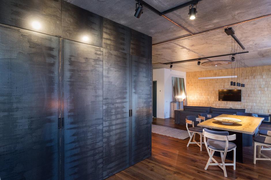 Фотография: Кухня и столовая в стиле Лофт, Квартира, Проект недели, Киев, новостройка, Монолитный дом, 2 комнаты, 60-90 метров – фото на InMyRoom.ru